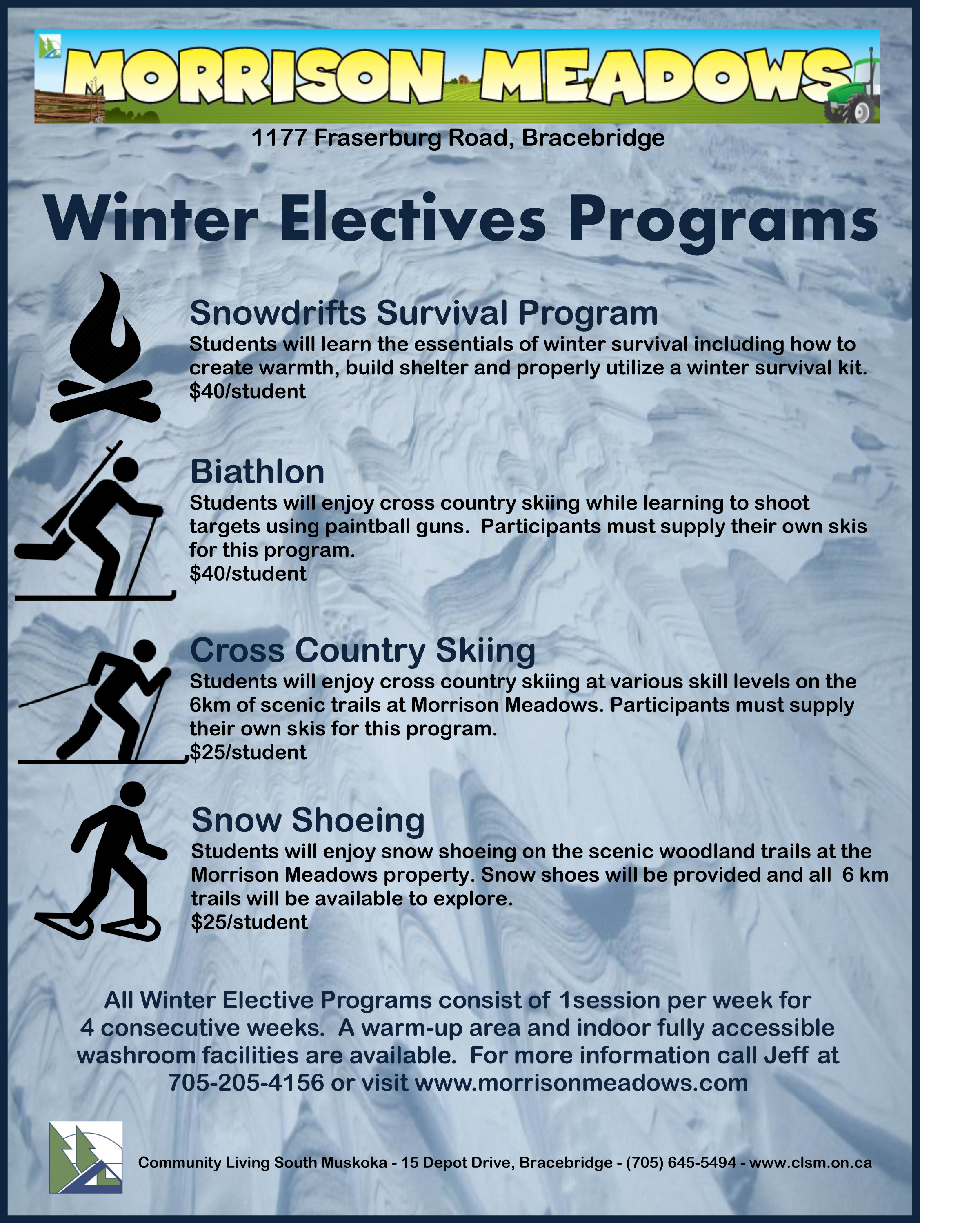 Snowdrifts Flyer 2015